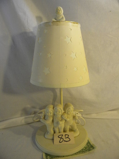 Department 56=snow Baby Lamp, E18640, Shade Damaged, 14'h