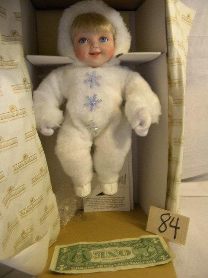 "Ashton Drake="",snow Baby Doll"", 10""h."