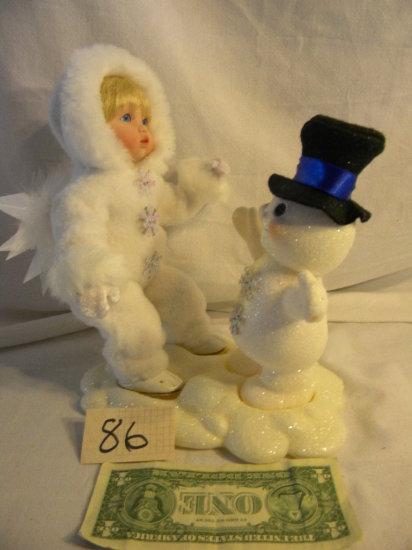 "Snow Baby Doll, ""beneath The Mistletoe"" 7628, W/authenticity"