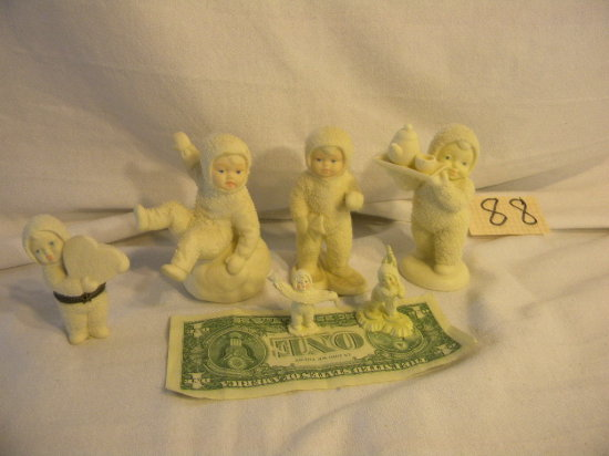 """Collection Of Snow Babies, """"breakfast In Bed"""", Pair Of Miniatures."""