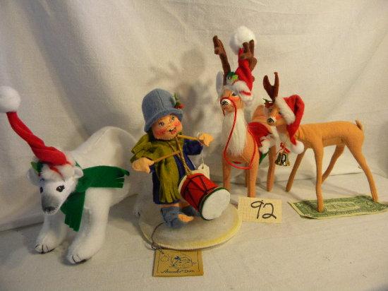 """Lot= Polar Bear; Pair Of Deer; Rabbit-12""""; Little Drummer Boy"""