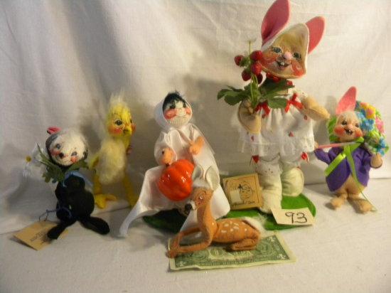 Lot= Pumpkin Girl; Bunny; Birthday Mouse; Fawn; Skunk Etc,