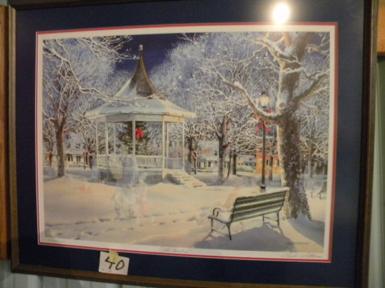 Framed Print: C.L. Peterson - The Carolers 236/2800 With Certificate Of Au