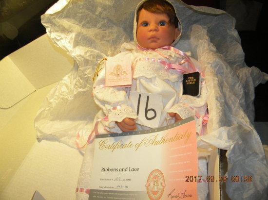 Lee Middleton Original Doll: Ribbons. & Lace