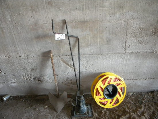 Tools= Hvy Duty Truck Jack; Extension Cord On Reel; Spade.