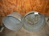 Pair Of Galvanized Wash Tubs.