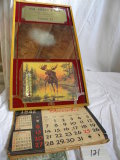 Advertising Pieces; William Borst And Sons Phone 22; Framed Mirror Calendar