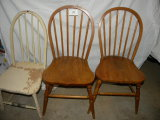 Three Spindle Back Smaller Chairs