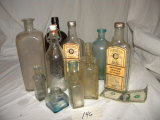 10 Old Medical Bottles.