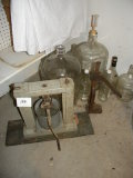 Wine Making= Grape Press; Pair 5 Gal. Jugs; 5 Small Jugs;; Cap Press And Mi