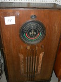 Old Radio= Montgomery Ward Arline Tube, Cabinet. Needs Adjust.