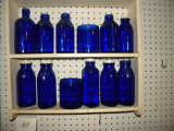 Cobalt Blue Glassware, 12 Pieces