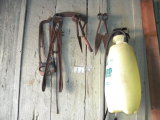 Yard Tools= Yard Sprayer, 3.0 Gal; Bolt Cutter; Pair Of Hand Scythes; Saws