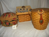Three Decorative Baskets.