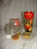 Advertisement= Cornet Brandy, Dresden Glassware.