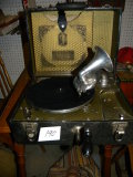 Antique= Harmony Portable Wind-up Nostalgic Record Player,
