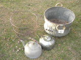 Silage Basket; Egg Basket; Aluminum Tea Kettle; Metal Tea Kittle.