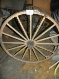 Wood Buggy Axel , Pair 36 Wood Spoke Wheels, Needs Work)