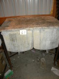 Old Double Galvanized Wash Stand.