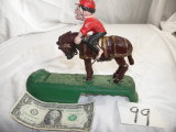 Toy Mechanical Bank=latway Old Spinster Mule