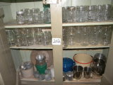 3 shelves of canning jars