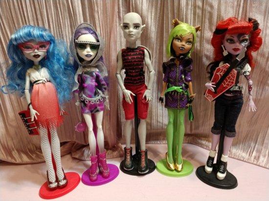 Lot Of (5) Monster High Dolls