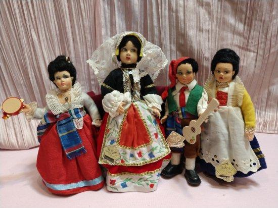 1930s Lenci Type Magis Roma Felt & Cloth Dolls Made In Italy