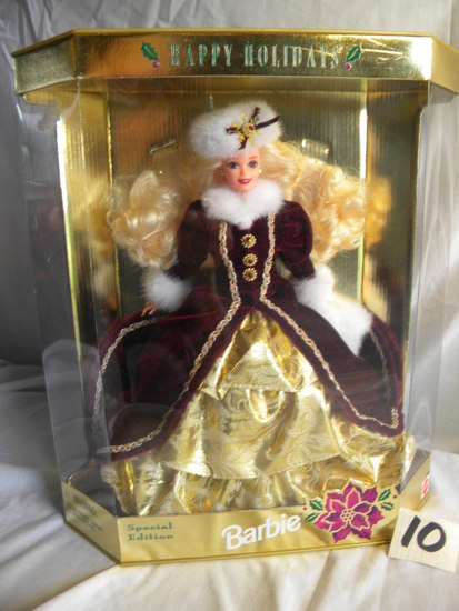 "Barbie = Special Edition, ""Happy Holidays"", by Mattel #15646, 12""H, Origina"
