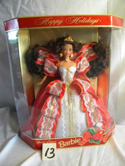 "Barbie = ""Special Holiday Edition-1987 edition, by Mattel #17832, 12""H, Ori"