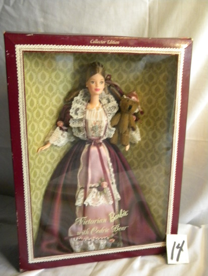 "Barbie = ""Victorian Barbie w/Cedric Bear, by Mattel #25526, 12:H, Original"