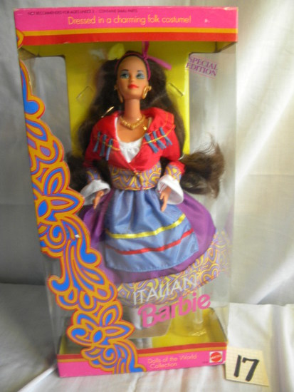 "Barbie = ""Italian Barbie-Dressed in Charming Folk Costume"", by Mattel #2256"