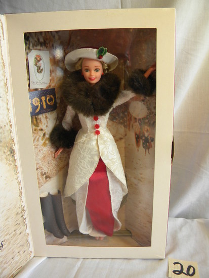 "Barbie = Hallmark Special Edition, 1910 Holiday Memories"" by Mattel #14106,"