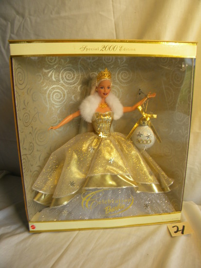 "Barbie =Special 2000 Edition, ""Celebration"", Symbolizes the Holiday Spirit"