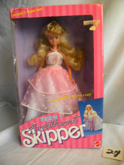 "Skipper = ""Teen Sweet Head"", by Mattel #4856, 12""H, Original Box."