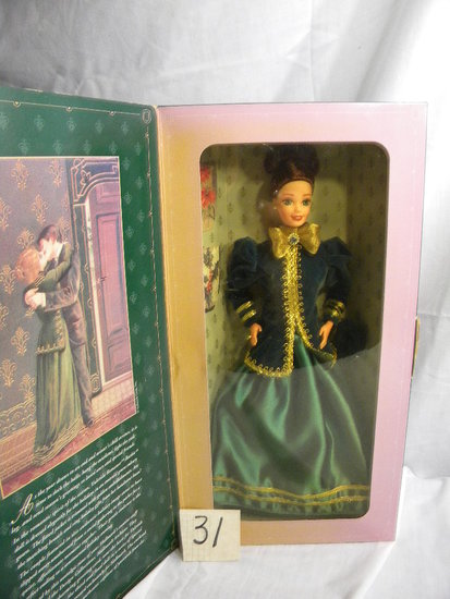 "Barbie- ""Yuletide Romance"", by Mattel #15621, Third in a Series, 12""H, Orig"