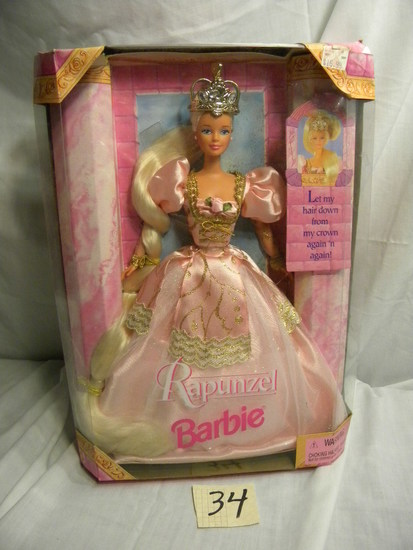 "Barbie- ""Repunzel"""" by Mattel #17646, 12""H, Original Box."