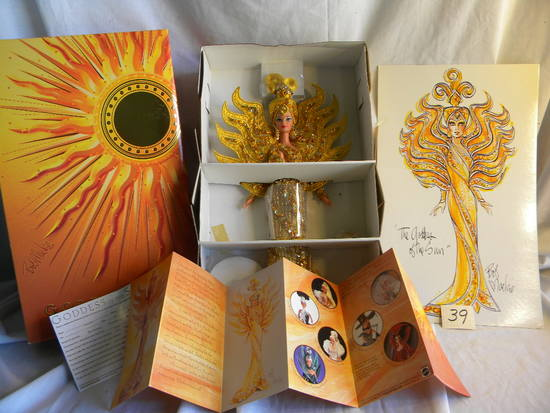 "Barbie- ""Goddess of the Sun"", by Mattel #14056, 15""H, Original Box."