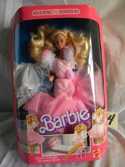 "Barbie=Sweet Roses w/Gown Changes; by Mattel, # 763, 11""H, With Original Bo"