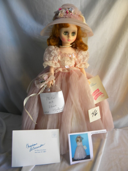 "Madam Alexander Collection, ""1960's-Elisa Bridesmaids"", w/Stand & Hat, (ope"