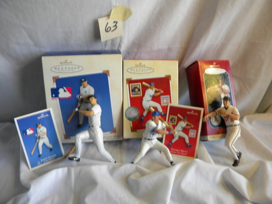 Hallmark Collection Baseball Series- Cal Ripken; George Bret; Jensen Giambi