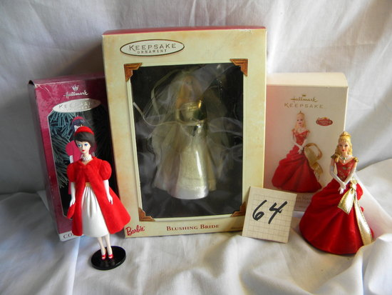 Barbie's-Hallmark Keepsake=Blushing Bride, Eden Starling, Sicilian Flame