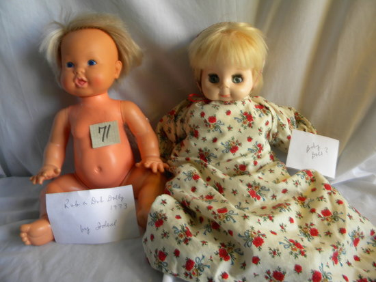 """Rub a Dub""Doll 18""H 1973, by Ideal; Baby Doll, open 'close eyes."