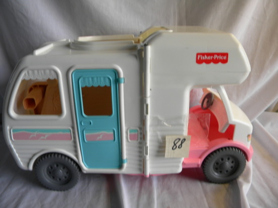 "Fisher Price Motor Home, 10X17X7""."