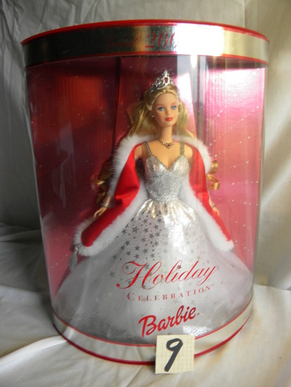 "Barbie =Collection, ""2001 Holiday Edition"", by Mattel #50504, Original Box."