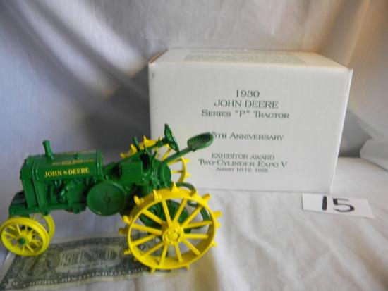 "John Deere, Model P, ""exhibitor Award Two Cylinder Expo V"", August 10-12, 1"