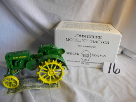 """John Deere, 1928 Model C, """"two Cylinder Club Grand Opening, May 1993"""", #570"""