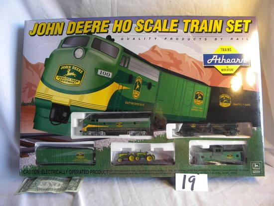 John Deere, Ho Scale Train Set, Usa Athearn, Includes=locomotive, (4) Cars,