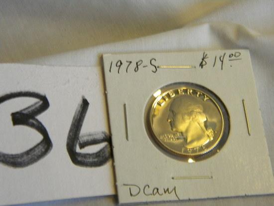 Quarter, 1978s, Proof