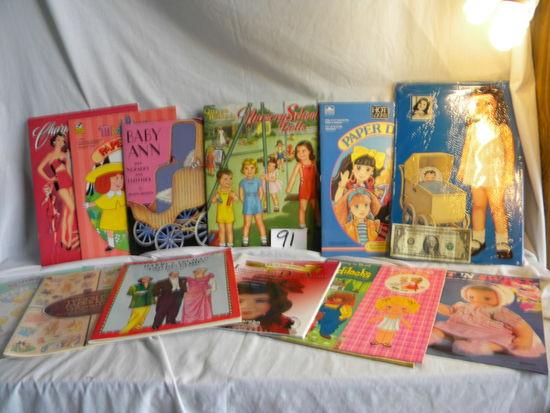 """Cut-Out-Dolls,""""Nursery School Dolls"""", Carolyn Lee""""; Baby Ann"""";""""madeline""""; Charming"""" Plus"""