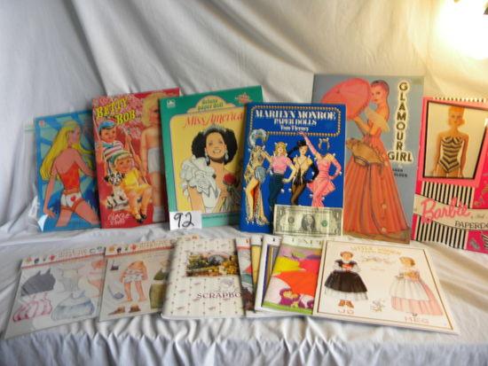 """Cut Out Dolls, """"little Women""""; (3) Paper Doll Reviews; """"aunt Jo's Scrapbook""""; (2) Mini Dre"""